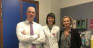 V.l.n.r. Hans Hellinckx (BD Benelux), Dr. Hilde Vanacker (bedrijfsarts en preventieadviseur, GROEP IDEWE), Heidi Vrijdagh (BD Medical)